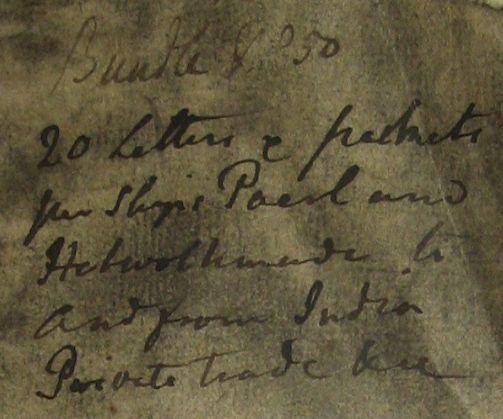 Briefje dat bij brief Alida Schouten zat