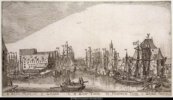 De haven van Danzig in 1617
